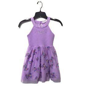 Knit Works Lavender Butterfly Dress S